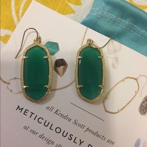Kendra Scott Green Elle Earrings New in Box